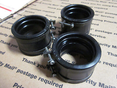 OEM Rubber Cylinder Coupler Set w/ Clamps Suzuki GT750 1974 - 77 Carb Boots (32)