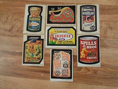 VINTAGE 1973-74 Wacky Packages Sticker Lot of 53 Different Series 2-10