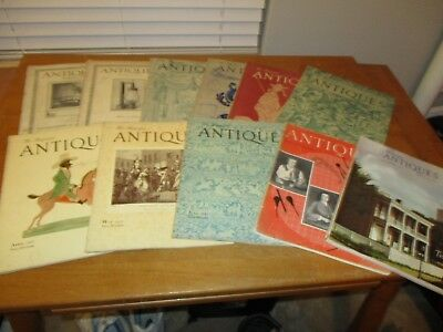 Vintage Lot of 11 - 1922 -1975   The Magazine ANTIQUES - Magazine  - Great Ads