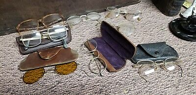 LOT OF 8 VINTAGE Eye glasses 1/10-1/14 G.F.