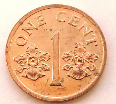 Singapore Cent 1994 Copper Plated Zinc KM#98  UNC