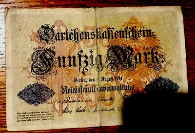 GERMANY GERMAN 1914 50 MARK AG CIRCULATED OLD BANKNOTE PAPER MONEY   World Money