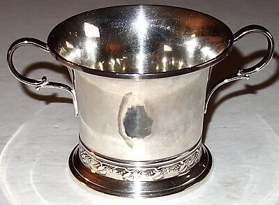 RARE and UNUSUAL Antique QUAKER (GORHAM) STERLING SILVER CUP w/TWO HANDLES~168G!