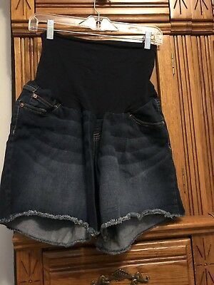 Motherhood Maternity Indigo Blue Womens XL Jean Denim Maternity Shorts