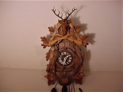 Black Forest Germany Hunter Style Musical Cuckoo Clock Project, Parts, Repair
