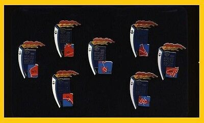 7TF  7G# * SYDNEY 2000 OLYMPIC GAMES * Torch Relay State Pin Set * Gold