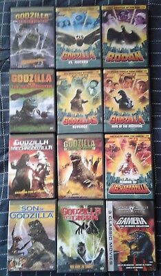 Godzilla Movie Collection (12 Dvds) *14 Movies* *hard To Find*