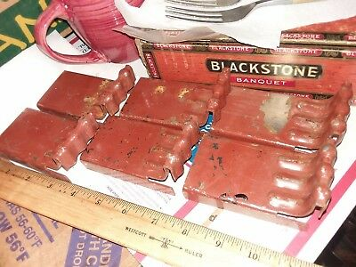 Vintage Antique Lot of 6 Iron Metal Bed Box Spring Bracket Hardware gift VHTF