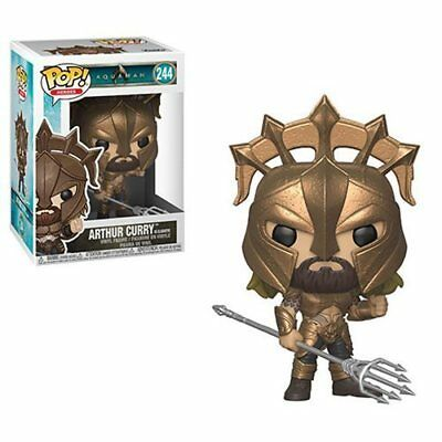 Dc Universe Aquaman Movie Arthur Curry Gladiator Funko Pop Vinyl Figure New #244