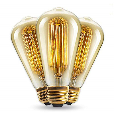 Vintage light bulb 60W - squirrel cage filament old fashioned Edison E27 screw 3