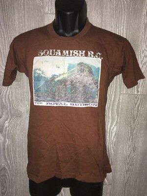 Vintage '78 NORTh RAILROAD T-Shirt Women's Large Squamish BC Royal Hudson Train