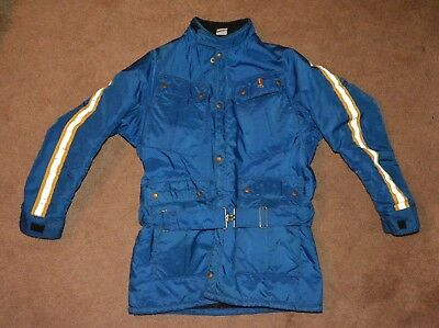 Vintage Malcolm Smith Racing Jacket Blue with stripes size Large