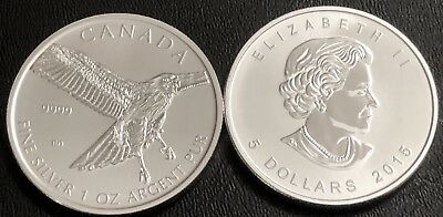 Lot Of 2-2015 1 Oz Rcm Silver Red-Tailed Hawk(Birds Of Prey Series).9999 Silver