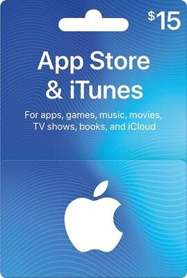 Itunes Gift Card $15 Value, Only $14