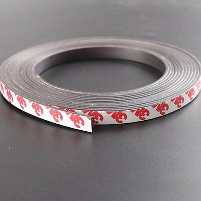 Magnetic Magnet tape Self Adhesive Roll magnet sticker Rubber Strip 10mm Width