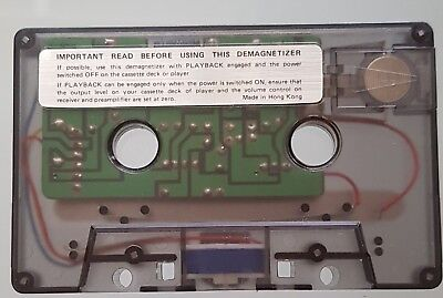 Demagnetizer For Home Audio Cassette Player