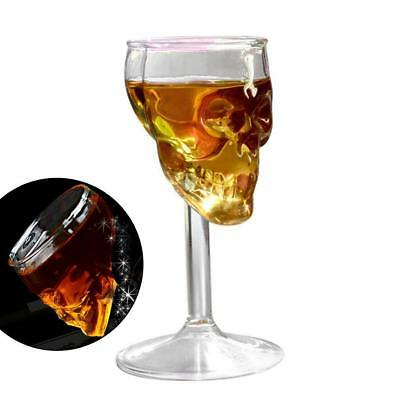 1Pc Crystal Skull Head Shot Whiskey Wine Glass Cup Glassware Decanter HOT