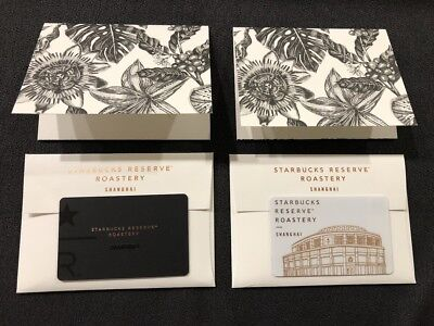 Starbucks China Shanghai Reserve Roastery Memorial Gift Card 2 Pcs with Sleeves