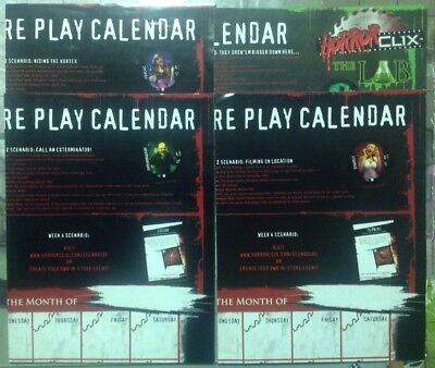 IN-STORE PLAY CALENDAR LOT OF 4 2006 The Lab 2007 and More...Horrorclix Heroclix