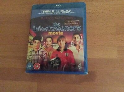 """The """"inbetweeners Movie"""" DVD (Blu-ray) - NEW still In Its Cellophane Wrapping"""