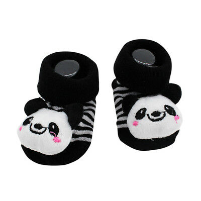 Cartoon Newborn Baby Girls Boys Anti-Slip Socks Slipper Shoes Boots VV