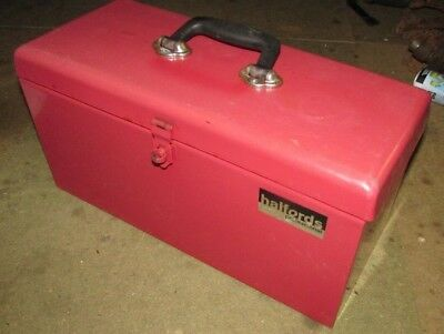 Halfords Professional Metal ToolBox with Tote Tray Tool Box