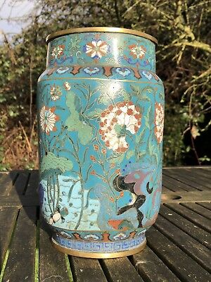 Superb Chinese Cloisonne Vase Qianlong Jiaqing Period 18Th / 19Th Century