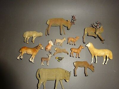 Antik -  Massefigur/Holzfiguren - Tiere - Set 1