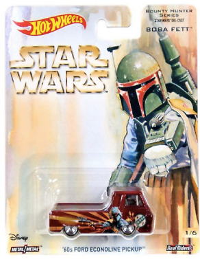 Star Wars Hot Wheels Boba Fett '60s Ford Econoline Pickup Bounty Hunter Series 1