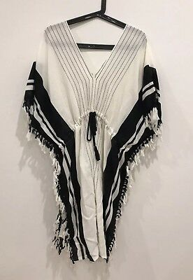 RARE New Country Road Beach Poncho Stripe Kaftan DRESS RRP$179 SOLD OUT