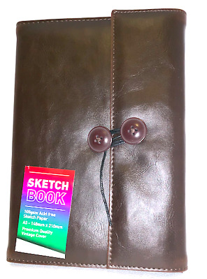 Sketch Book A5 Paper 105gsm 120 Pages Premium Vintage Cover