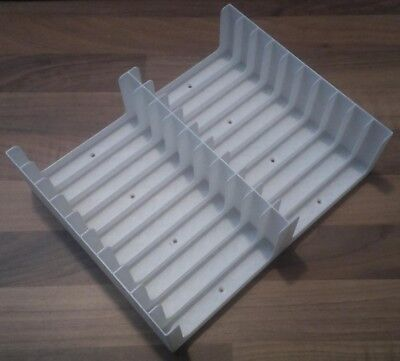 White Cassette Tape stand/rack/trays with 6 screws (Holds 20 tapes, 2x10)