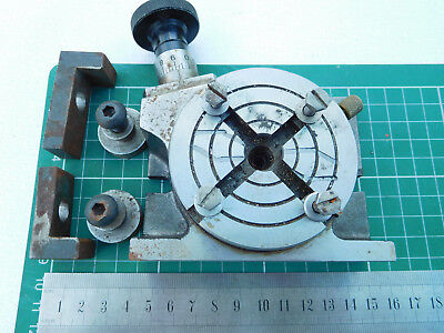 """3""""  Geared Horizontal/Vertical Rotary Table probably by Soba"""