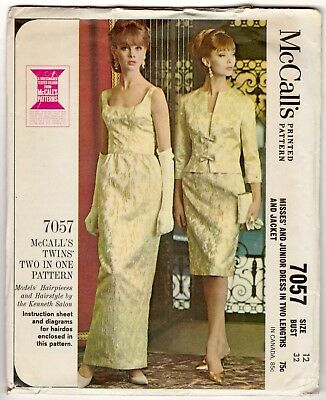 Vintage Women's Dress Pattern by McCall's 7057