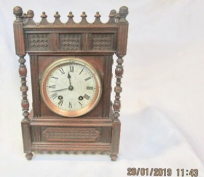 Camera Kuss mantle clock, working condition, Lenskirch movement, no reserve