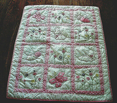 Powell Craft Nursery Embroidered Quilt  Baby Infant