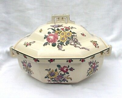 Royal Doulton Old Leeds Sprays Covered Casserole Vegetable Dish