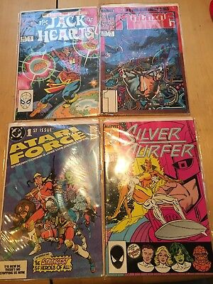 4 Vintage Marvel & Dc Bronze Age Comic Book Lot All 1st Issue Vf To Nm