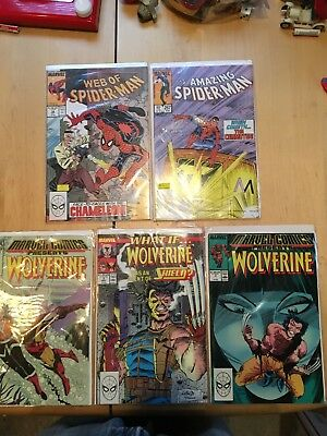 5 Vintage Marvel Bronze Age Comic Book Lot Vf To Nm