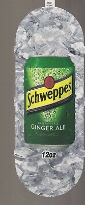 Schweppes GINGER ALE 12oz Can Vending Machine Sign