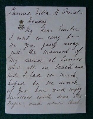 Antique Signed Letter Grand Duchess Maria Pavlovna the Elder Romanov of Russia