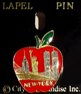 World Trade Center Pre 9/11 Cloisonné Lapel Pin VTG WTC Jewelry Twin Towers Mint