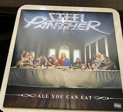 Steel Panther All You Can Eat LP Limited Edition Yellow/Orange Guns N Roses