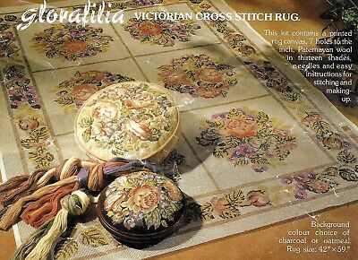 Glorafilia needlepoint kit - Victorian Cross Stitch Rug