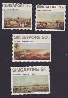 Singapore stamps 1971 MNH Views set some foxing rear see scans