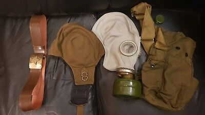 USSR CCCP Russian Soviet Army set Cold War Era. Belt,Gas mask,VDV hat.