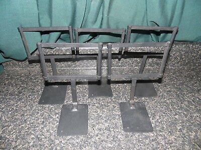 Vintage Lot of 5 Wrought Iron Table Top Display Frames For Retail Store Signage