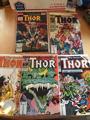 The Mighty Thor #363 373 380 383 1986) Marvel Comic Lot Of 5 FN/VF Condition