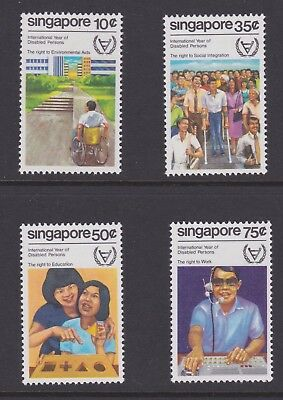 Singapore stamps 1981 MNH Disabled