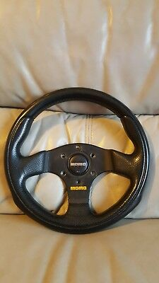 Momo Team 280Mm Genuine Italian Leather Steering Wheel